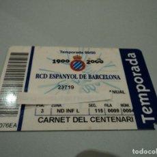 Coleccionismo deportivo: RCD ESPANYOL DE BARCELONA CARNET DEL CENTENARI. Lote 77560337