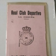 Coleccionismo deportivo: CARNET SOCIO RC DEPORTIVO LA CORUÑA TEMPORADA 1972-73 . Lote 79615665