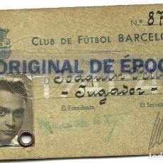 Coleccionismo deportivo: (F-170485)PASE JUGADOR C.F.BARCELONA 1941 - 42. Lote 83828720