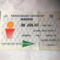Coleccionismo deportivo: FINAL MUNDOBASKET ESPAÑA 1986 BALONCESTO ESTADOS UNIDOS CAMPEÓN RUSIA PETROVIC SABONIS. Lote 85708070