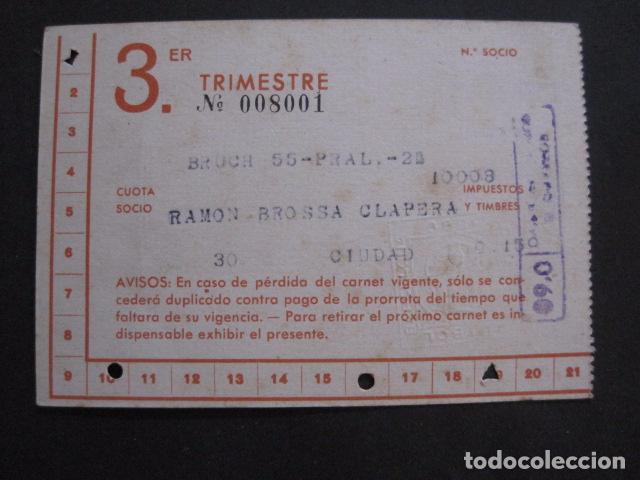 Coleccionismo deportivo: CLUB FUTBOL BARCELONA CARNET - 3 TRIMESTRE AÑO 1948 -VER FOTOS - (V-11.012) - Foto 3 - 86570576