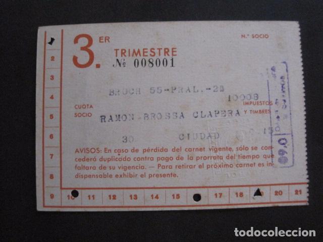 Coleccionismo deportivo: CLUB FUTBOL BARCELONA CARNET - 3 TRIMESTRE AÑO 1948 -VER FOTOS - (V-11.012) - Foto 4 - 86570576