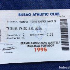 Coleccionismo deportivo: R2330 CARNET SOCIO ABONADO BILBAO ATHLETIC CLUB 1995. Lote 88366936