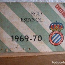 Coleccionismo deportivo: RCD .ESPAÑOL CARNET CUATRIMESTRE 1969-1970. Lote 88803360