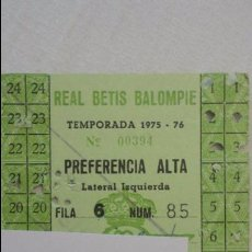 Coleccionismo deportivo: ANTIGUA TARJETA DE SOCIO.REAL BETIS BALOMPIE.1975-76. Lote 88934560