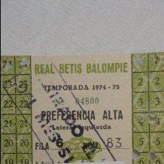 Coleccionismo deportivo: ANTIGUA TARJETA DE SOCIO.REAL BETIS BALOMPIE.1974-75. Lote 88934632