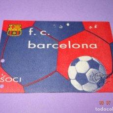 Coleccionismo deportivo: ANTIGUO CARNET DE ABONO SOCIO SOCI DEL F.C. BARCELONA DE ABONO TEMPORADA 1975. Lote 91933280