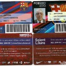Coleccionismo deportivo: AG1.4 CARNETS F.C. BARCELONA 2012-2013. Lote 93090365