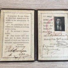 Coleccionismo deportivo: R2964 CARNET SOCIO ABONADO REAL MADRID AÑO 1930 SOCIO NUMERO 9644 PEDRO BARAHONA DE LOPEZ. Lote 98351859