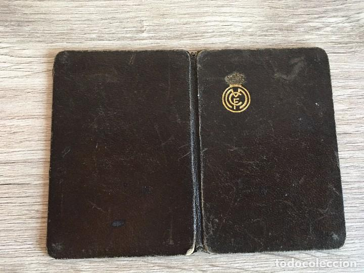 Coleccionismo deportivo: R2964 CARNET SOCIO ABONADO REAL MADRID AÑO 1930 SOCIO NUMERO 9644 PEDRO BARAHONA DE LOPEZ - Foto 2 - 98351859