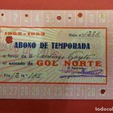 Coleccionismo deportivo: CLUB FUTBOL BARCELONA. ABONO DE TEMPORADA 1952-1952. GOL NORTE. Lote 99663323