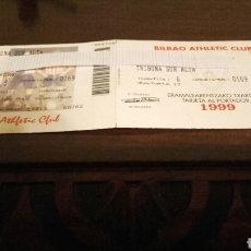 Coleccionismo deportivo: CARNET DEL ATHLETIC CLUB Y DEL BILBAO ATHLETIC CLUB (1999).. Lote 101309962