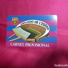 Coleccionismo deportivo: CARNET PROVISIONAL. F. C. BARCELONA. AMPLIACIÓ DE L'ESTADI . Lote 105768535