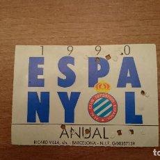 Coleccionismo deportivo: CARNET SOCIO REAL DEPORTIVO ESPAÑOL AÑO 1990. Lote 106035043