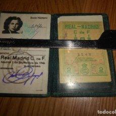 Coleccionismo deportivo: ANTIGUO CARNET DE SOCIO DEL REAL MADRID CLUB DE FÚTBOL AÑO 1946. Lote 107651163