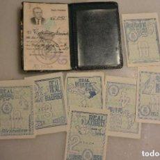 Coleccionismo deportivo: CARNET SOCIO REAL MADRID 1950 CON CUPONES. Lote 108839947