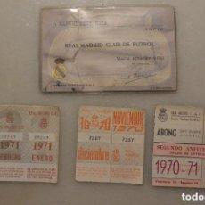 Coleccionismo deportivo: ANTIGUO CARNET SOCIO REAL MADRID 1963 CON CUPONES. Lote 108840199