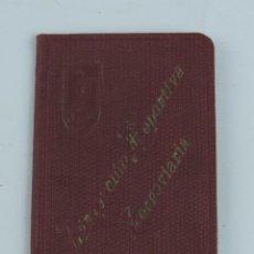 Coleccionismo deportivo: CARNET DE LA AGRUPACION DEPORTIVA FERROVIARIA DE MADRID, AÑO 1925, CONTIENE 2 CUPONES, MIDE 8,5 X 5,. Lote 109261419