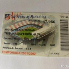 Coleccionismo deportivo: CARNET DE SOCIO DE FUTBOL DE SOCIO ATLETICO MADRID.2001/2002.. Lote 109538379