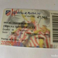 Coleccionismo deportivo: CARNET DE SOCIO DE FUTBOL DE SOCIO ATLETICO MADRID.2002/2003.. Lote 109538651