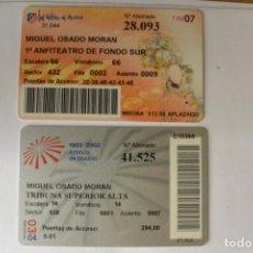 Coleccionismo deportivo: LOTE 2 CARNET SOCIO AT. MADRID 02/03 Y 06/07. Lote 109539023