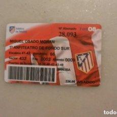 Coleccionismo deportivo: CARNET SOCIO ATLETICO MADRID 2007/08. Lote 109562139