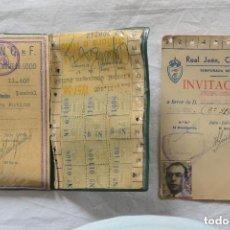 Coleccionismo deportivo: CARNET FUTBOL SOCIA REAL JAÉN 1957. Lote 109562491