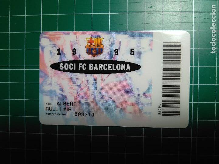 CARNET SOCI FC BARCELONA 1995 FUTBOL CLUB BARCELONA BARÇA SOCIO DORSO BANCA CATALANA VER FOTOGRAFIAS (Coleccionismo Deportivo - Documentos de Deportes - Carnet de Socios)