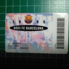 Coleccionismo deportivo: CARNET SOCI FC BARCELONA 1995 FUTBOL CLUB BARCELONA BARÇA SOCIO DORSO BANCA CATALANA VER FOTOGRAFIAS. Lote 110141379