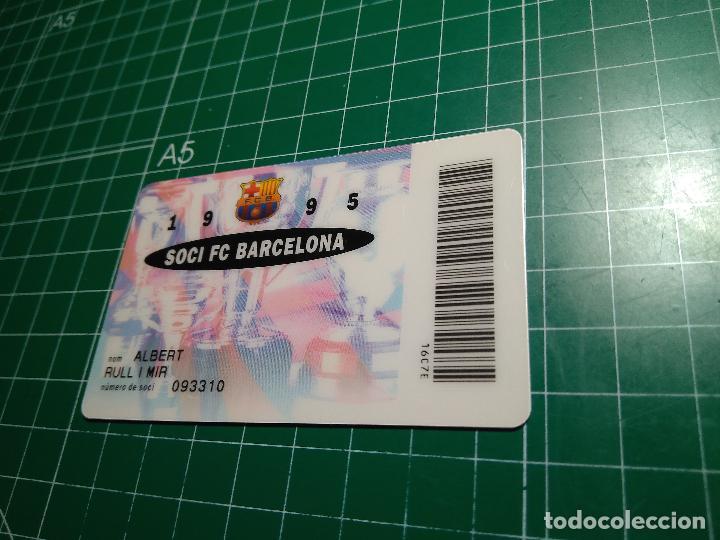 Coleccionismo deportivo: CARNET SOCI FC BARCELONA 1995 FUTBOL CLUB BARCELONA BARÇA SOCIO DORSO BANCA CATALANA VER FOTOGRAFIAS - Foto 3 - 110141379