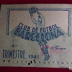 Coleccionismo deportivo: CS-7.- CLUB DE FUTBOL BARCELONA.- CARNET DE SOCIO -- 1941-- 4º TRIMESTRE , BIEN CONSERVADO. Lote 110377331