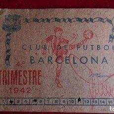 Coleccionismo deportivo: CS-9.- CLUB DE FUTBOL BARCELONA .- CARNET DE SOCIO- AÑO 1942.- 4º TRIMESTRE- BUENA CONSERVACION . Lote 110378631