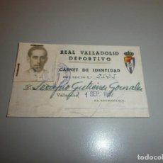 Coleccionismo deportivo: CARNET DE SOCIO ANTIGUO REAL VALLADOLID DEPORTIVO AÑO 1952. Lote 110387359