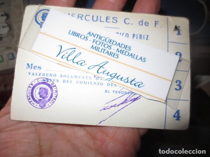 ANTIGUO Y CURIOSO CARNET DEL HERCULES ALICANTE FUTBOL SERVICIO REPOSTERIA RICO PEREZ (Coleccionismo Deportivo - Documentos de Deportes - Carnet de Socios)
