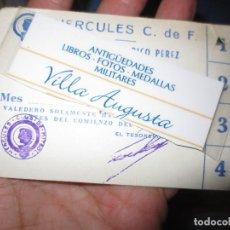 Coleccionismo deportivo: ANTIGUO Y CURIOSO CARNET DEL HERCULES ALICANTE FUTBOL SERVICIO REPOSTERIA RICO PEREZ. Lote 110770319