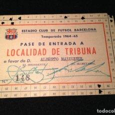 Coleccionismo deportivo: CAJA AZUL CARNET ALBERTO MALUQUER HISTORIA DEL FUTBOL CLUB FC BARCELONA F.C BARÇA CF. Lote 112181551