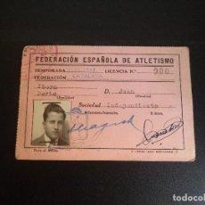Coleccionismo deportivo: CARNET FEDERACIÓN ESPAÑOLA DE ATLETISMO.. Lote 113180127