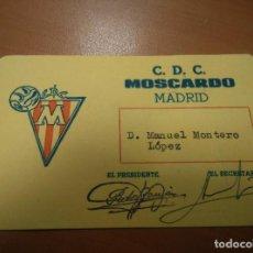 Coleccionismo deportivo: ANTIGUO CARNET DE SOCIO Nº 187 DE C.D.C MOSCARDO, MADRID AÑOS 60. Lote 114122287