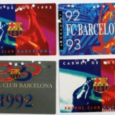 Coleccionismo deportivo: F-3623. CARNETS SOCIO FUTBOL CLUB BARCELONA TEMPORADAS 1992-1993. CUATRO. BIEN CONSERVADOS.. Lote 114224255
