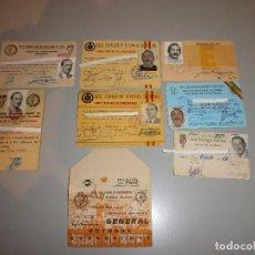 Coleccionismo deportivo: LOTE DE CARNET DE SOCIO Y DE ENTRENADOR DE FUTBOL AÑOS 60-70-80 Y 90. Lote 115011275