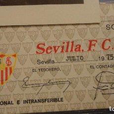 Coleccionismo deportivo: ANTIGUO CARNET DE SOCIO.SEVILLA F.C 1975. Lote 115134867