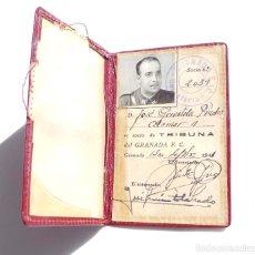 Coleccionismo deportivo: CARNET DE SOCIO DE TRIBUNA, GRANADA F.C. 1946. Lote 116682083