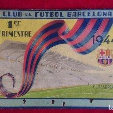 Coleccionismo deportivo: ST-148.- CLUB DE FUTBOL BARCELONA .- CARNET DE SOCIO - 1ER. TRIMESTRE - 1944- . Lote 121848415