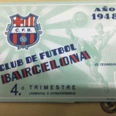 Coleccionismo deportivo: CLUB DE FUTBOL BARCELONA 1948. Lote 122436171