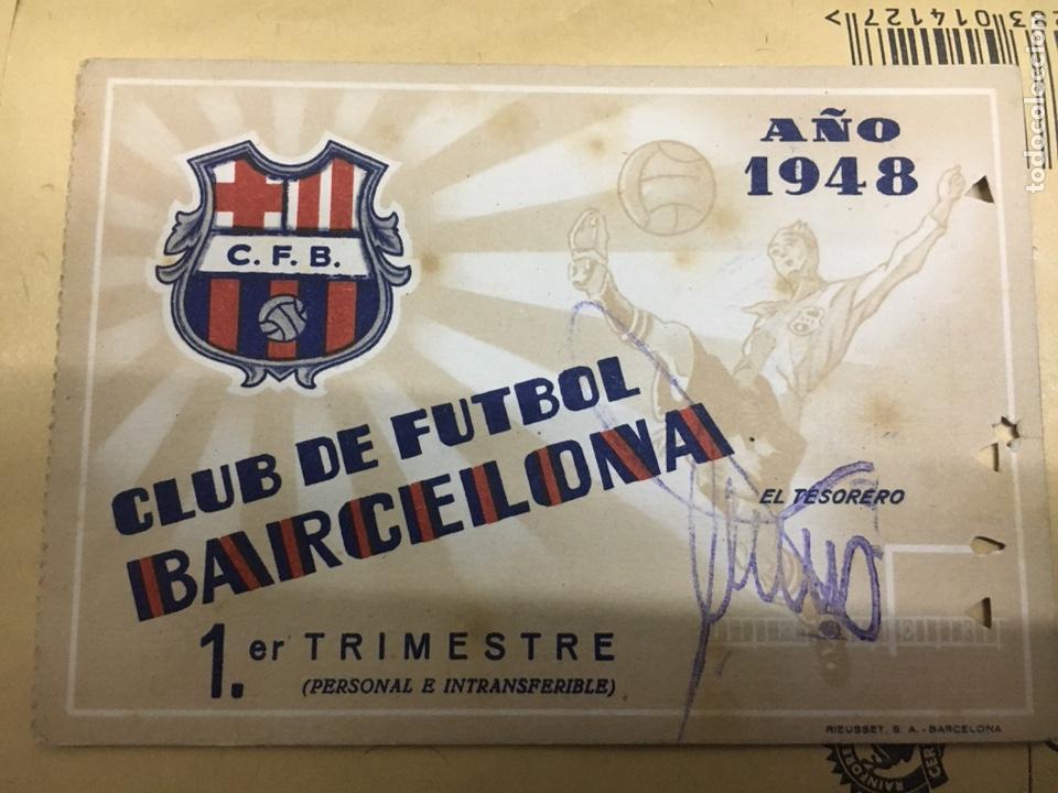 CLUB DE FUTBOL BARCELONA 1948 (Coleccionismo Deportivo - Documentos de Deportes - Carnet de Socios)
