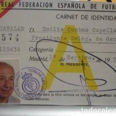 Coleccionismo deportivo: REAL FEDERACIÓN ESPAÑOLA DE FUTBOL CARNET DE IDENTIDAD - PORTAL DEL COL·LECCIONISTA *****. Lote 122591335