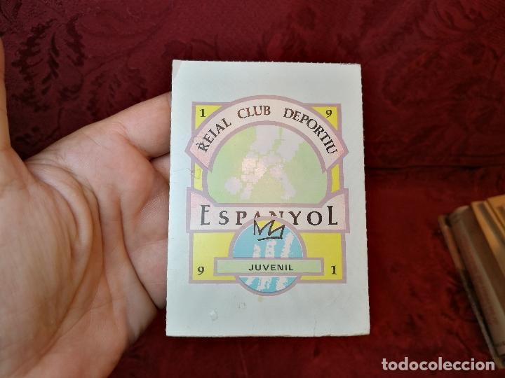 CARNET SOCIO RCD R.C.D ESPANYOL ESPAÑOL ANY 1991 JUVENIL (Coleccionismo Deportivo - Documentos de Deportes - Carnet de Socios)