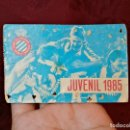 Coleccionismo deportivo: CARNET SOCIO RCD R.C.D ESPANYOL ESPAÑOL ANY 1985 JUVENIL. Lote 123367519