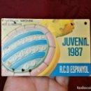 Coleccionismo deportivo: CARNET SOCIO RCD R.C.D ESPANYOL ESPAÑOL ANY 1987 JUVENIL. Lote 123367843