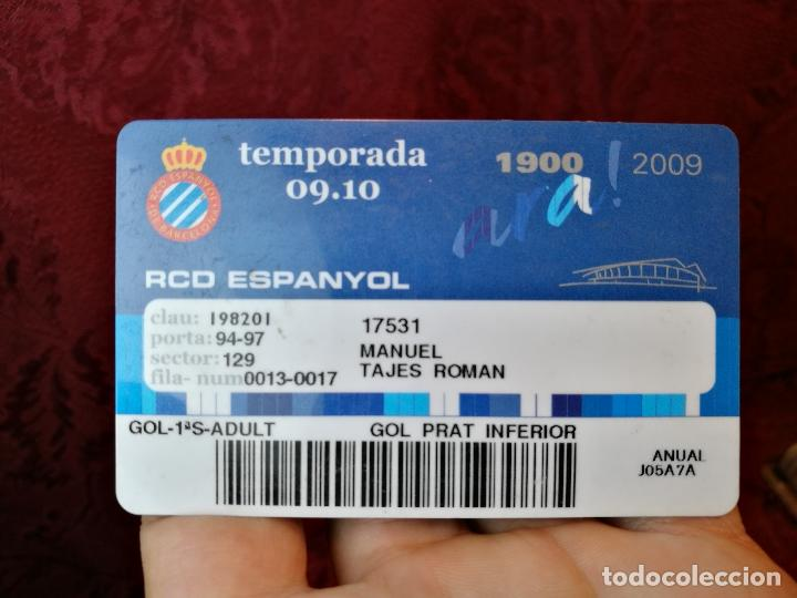 CARNET SOCIO TEMPORADA 2009 ...R.C.D. ESPANYOL. (Coleccionismo Deportivo - Documentos de Deportes - Carnet de Socios)